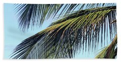 Swaying Palm Branches Beach Towel