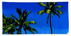 Coconut Palms 5 Beach Towel