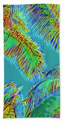 Coconut Palms Psychedelic Beach Towel