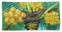 Coconut Palms Beach Towel by Val Miller