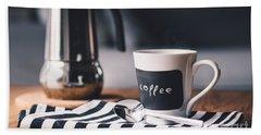 Coffee #5  Beach Towel