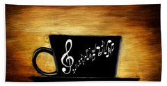 Coffee And Music Beach Towel