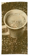 Coffee And Nostalgia Beach Towel