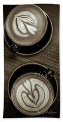 Coffee Between Friends Beach Sheet by TK Goforth