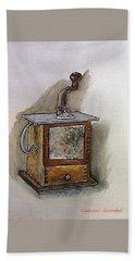 Coffee Grinder Beach Sheet by Catherine Swerediuk