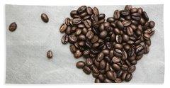 Coffee Heart Beach Sheet