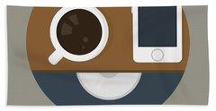 Coffee Poster Print - It's Coffee O'clock Beach Towel
