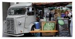 Coffee Truck Beach Towel by Christin Brodie