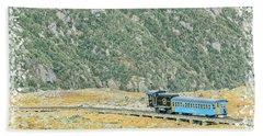 Cog Railroad Train. Beach Towel