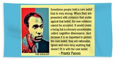 Cognitive Dissonance Frantz Fanon Beach Towel