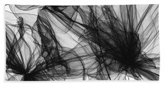 Coherence - Black And White Modern Art Beach Sheet