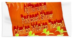 Cojin Del Podcast Ajiterarapia Beach Towel
