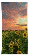 Colby Farm Sunflowers Beach Sheet