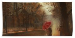 Cold Autumn Morning Painting Beach Towel
