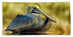 Cold Brown Pelican Beach Towel