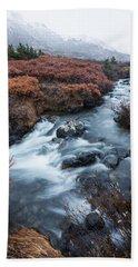 Cold Creek In Autumn Beach Towel