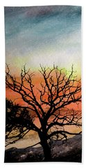 Cold Nightfall  Beach Towel by R Kyllo