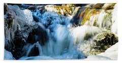 Cold Water Fall Beach Towel