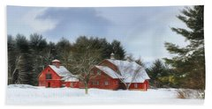 Cold Winter Days In Vermont Beach Towel by Sharon Batdorf