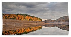 Colebrook Reservoir - In Drought Beach Towel