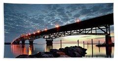 Coleman Bridge Reflections Beach Towel