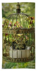 Coleus In Vintage Birdcage Beach Towel