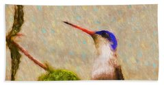 Beach Towel featuring the photograph Colibri by John Kolenberg