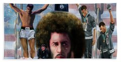 Colin Kaepernick Amongst The Brave Few 2a Beach Towel