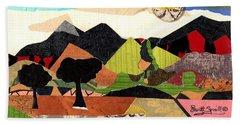 Collage Landscape 1 Beach Towel by Everett Spruill