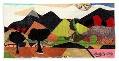 Collage Landscape 1 Beach Sheet by Everett Spruill