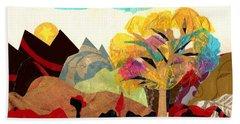 Collage Landscape 2 Beach Sheet by Everett Spruill