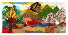 Mountain Landscape Collage 3 Beach Towel