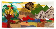 Mountain Landscape Collage 3 Beach Sheet