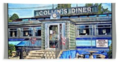 Collin's Diner New Canaan,conn Beach Towel by MaryLee Parker