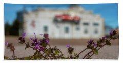 Collyer Sidewalk Blooms Beach Towel by Darren White
