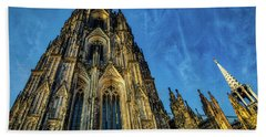 Cologne Cathedral Afternoon Beach Towel