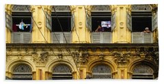 Colonial Facade Bo Soon Pat Street 8th Ward Central Yangon Burma Beach Sheet
