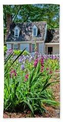 Colonial Garden1 Beach Towel