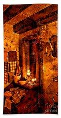 Colonial Kitchen Evening Warmth Beach Towel