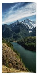 Colonial Peak Towers Over Diablo Lake Beach Towel