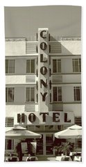 Colony Hotel South Beach Beach Towel