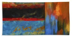 Color Abstraction Li  Beach Towel