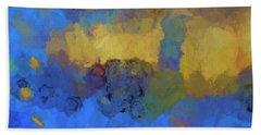 Color Abstraction Lviii Beach Sheet by David Gordon