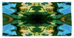 Color Abstraction Lxv Beach Sheet by David Gordon