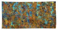 Color Abstraction Lxxiv Beach Sheet by David Gordon