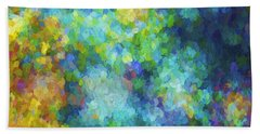 Color Abstraction Xliv Beach Sheet by David Gordon