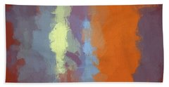 Color Abstraction Xxiii Sq Beach Towel