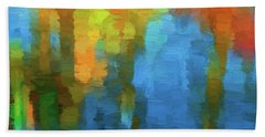 Color Abstraction Xxxi Beach Sheet by David Gordon
