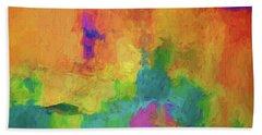 Color Abstraction Xxxiv Beach Sheet