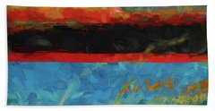 Color Abstraction Xxxix Beach Towel by David Gordon